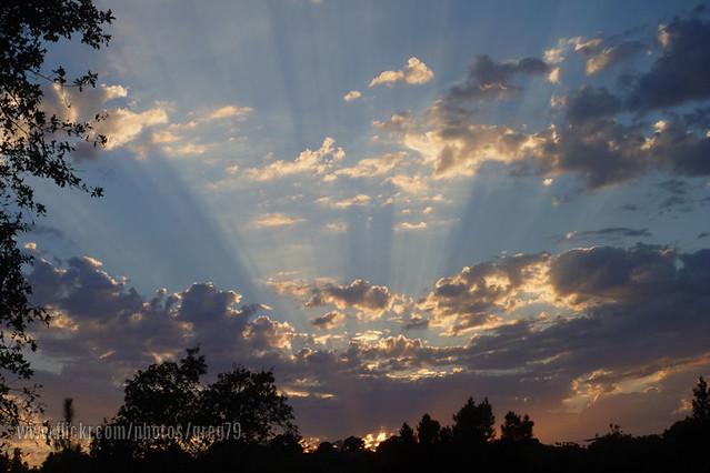 Crepuscular Sunset 8-14-12 _ P1010178