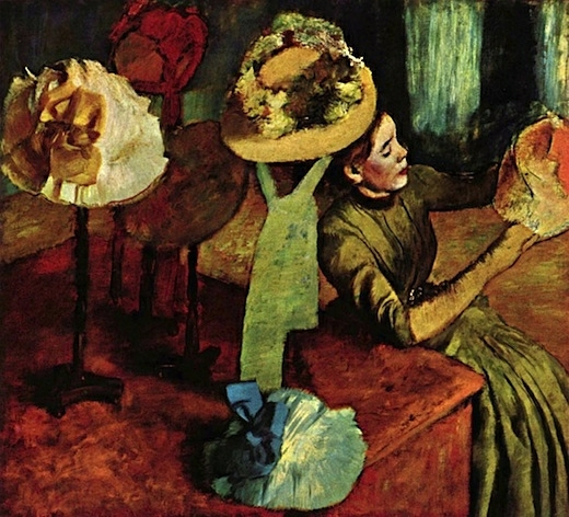 Edgar Degas - Chez la modiste (The Millinery shop)