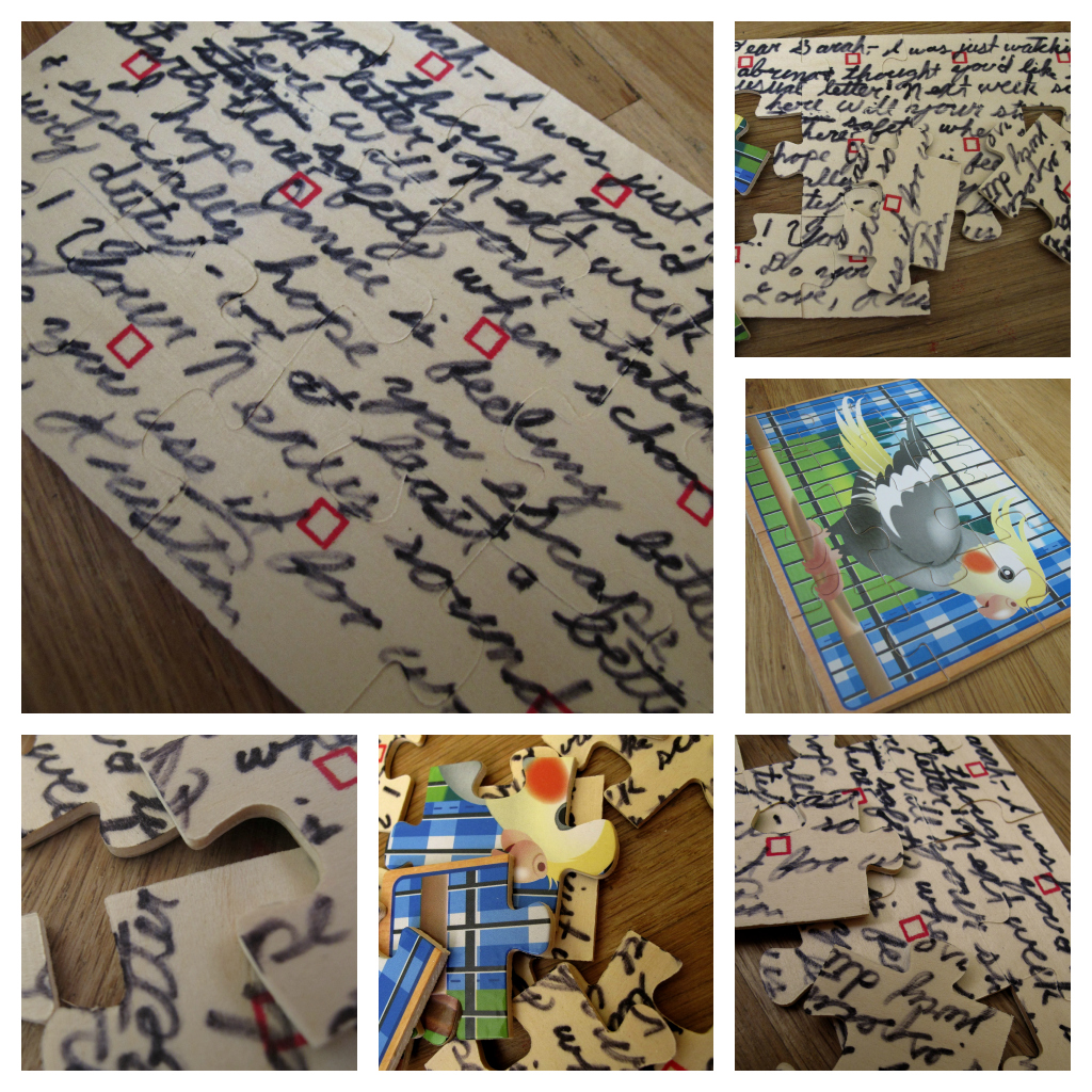 Puzzle Letter Collage