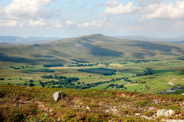 View from Ingleborough in the Yorkshire Dales