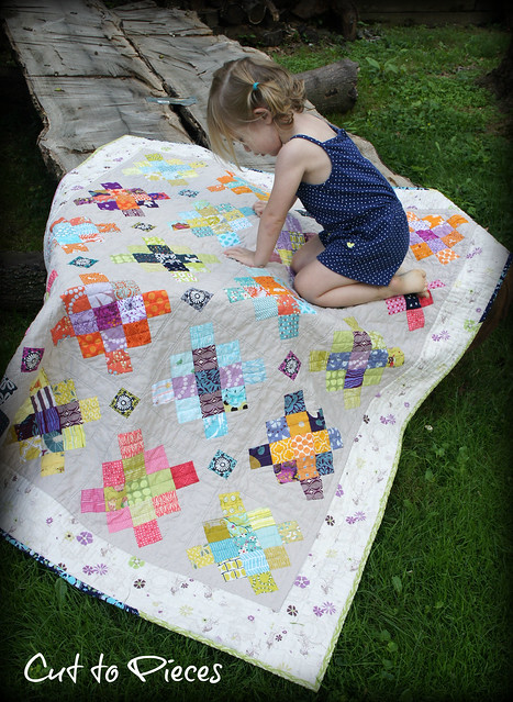Caitlyn and the quilt