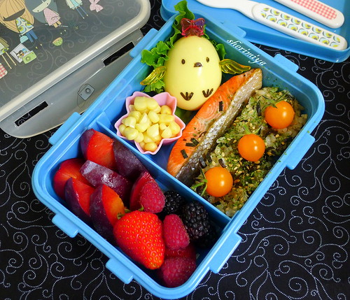 Salmon and Chick Bento by sherimiya ♥