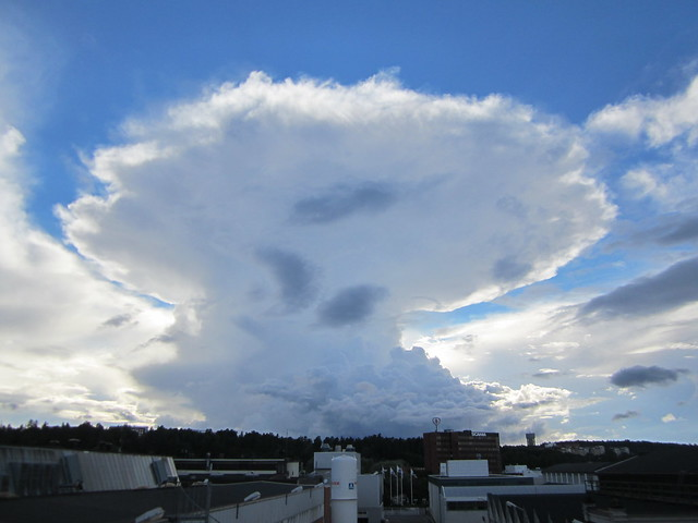 Mushroom cloud on a Blue Sky Day