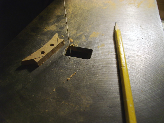 Marking for cutting the center, latch piece...