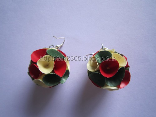 Handmade Jewelry - PaperCone Globe Earrings (Tri Color) (1) by fah2305