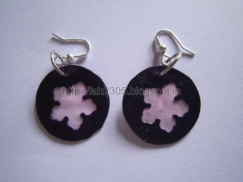 Handmade Jewelry - Paper Punch Disk Earrings (4) by fah2305