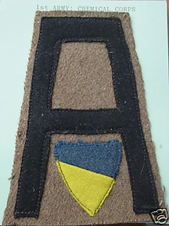 RARE WW1 1ST ARMY CHEMICAL CORPS PATCH - WOW