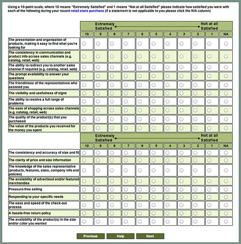 L.L. Bean Customer Satisfaction Survey by stevegarfield