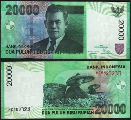 20 000 Rupiah Indonézia 2004-8, Pick 144