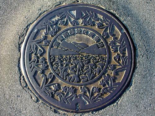 Shiojiri Nagano manhole cover (長野県塩尻市宗賀南部地区のマンホール)