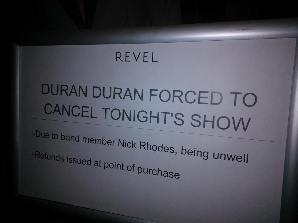 Hotel Revel Atlantic City Duran Duran cancels
