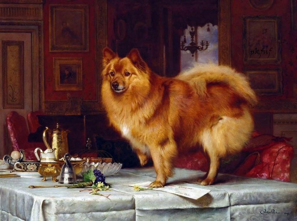 Marco on the Queen's Breakfast Table by Charles Burton Barber, 1893