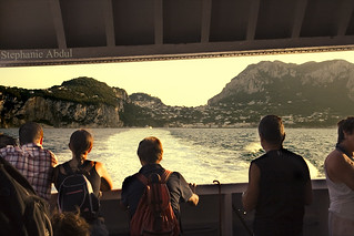 View From a Ship as it Sails Away From Capri