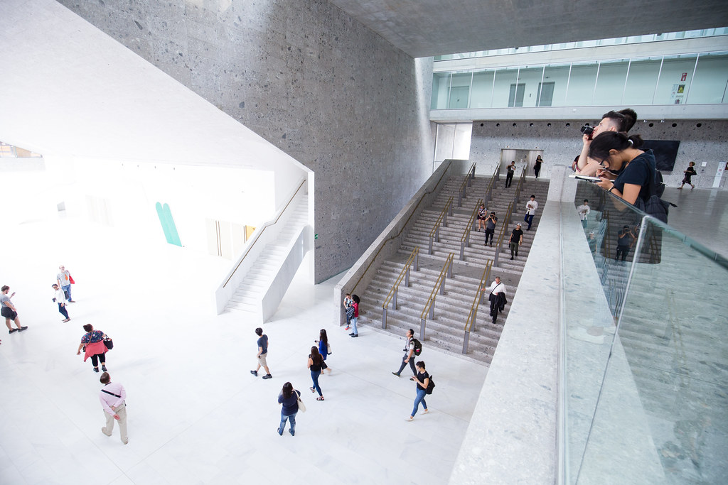 Students sketch, photograph, and explore the campus of Universita Bocconi, designed by Grafton Architects, fall 2015.  photo / Stephanie Cheung (B.Arch. '18)