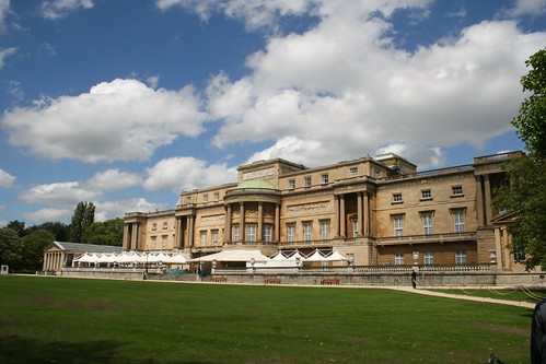 The rear of Buckingham Palace