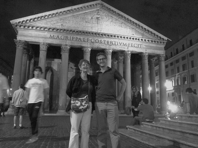 Heide and Nick in Front of the Pantheon