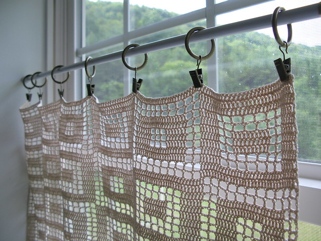 Fliet Crochet Curtain