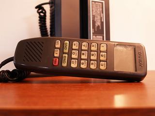 Complete Brick Phone 1985 Old School Mobile VINTAGE CELLULAR Bag Telephone Tandy circa Eighties