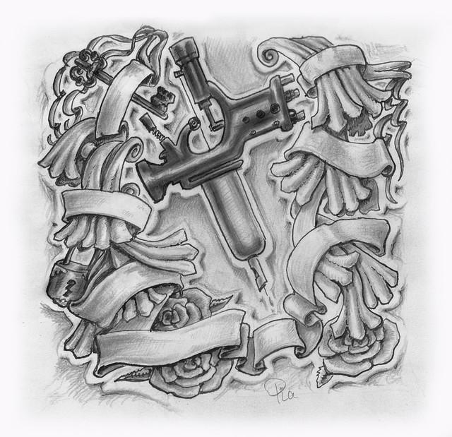 tattoo gun drawing | Flickr - Photo Sharing!