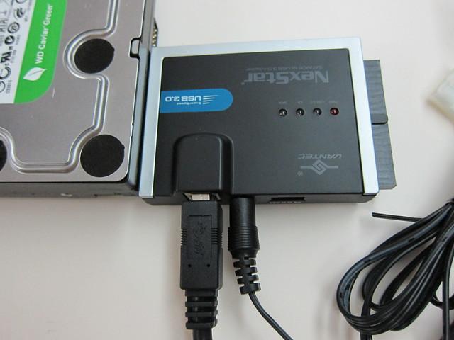 Vantec NexStar SATA/IDE to USB 3.0 Adapter - Connected via SATA