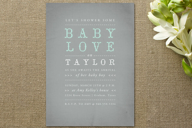 minted baby shower invitation
