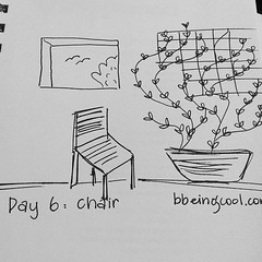 Day 6: chair. #photoadayjuly #bdrawsthings #handdrawn #catchingup #outofproportion