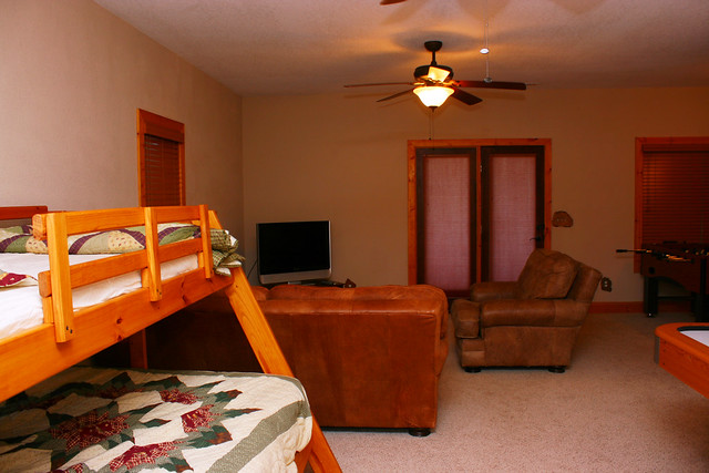 Gameroom at the Blairsville Cabin