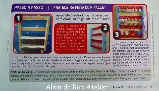 Pallet prateleira na Revista RenovaSP