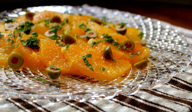 oranges, olives and parsley salad