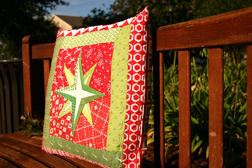Mariner Star pillow - side view