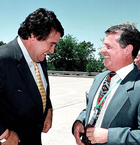 Bill Richardson with John Browne