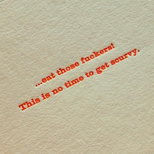 sour #letterpress