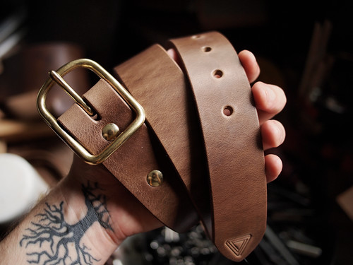 Natural Chromexcel Belt