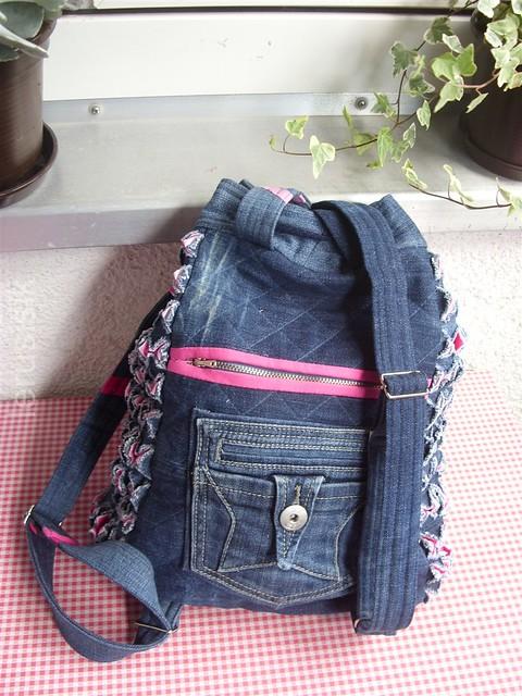 lerusisik Square+ Chenille + Jeans = Rucksack -> Waschmaschine Jeans