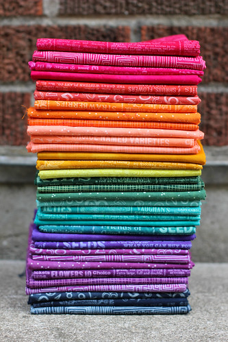 Hand-dyed Fabric Stash by jenib320