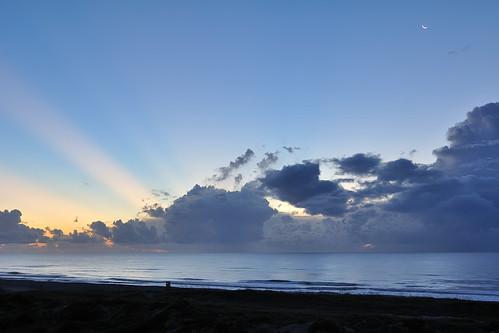 beach sunrise dawn sunbeams ameliaisland
