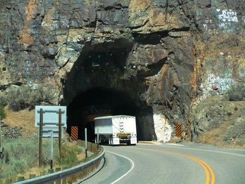 Going through through tunnel