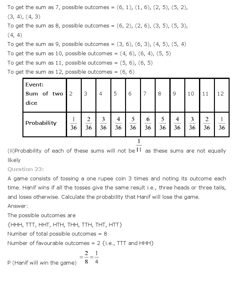 freehomedelivery.net NCERT Solutions For Class 10 Maths Chapter 15 Probability PDF Download 2018-19