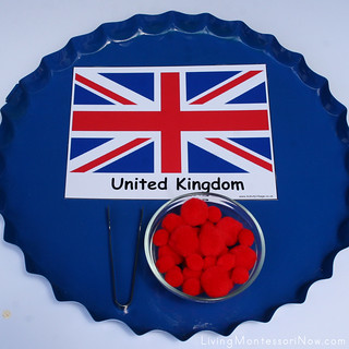 British Flag Pom Pom Transfer Activity