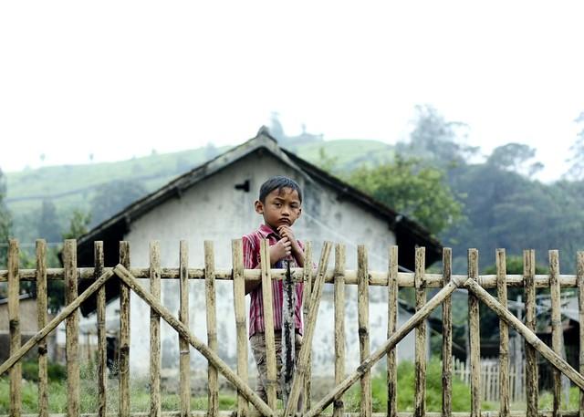 southeast asia village boy