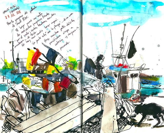 Sancti Petri. Puerto pesquero
