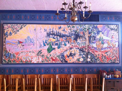 Upstairs mural at Ann Sather