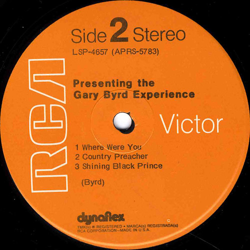 Gary Byrd Experience-label2