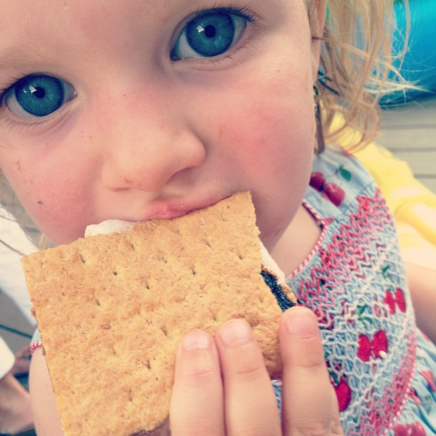 Eating #smores! How are you celebrating summer?