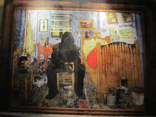 Banksy for Mural by mr brainwash