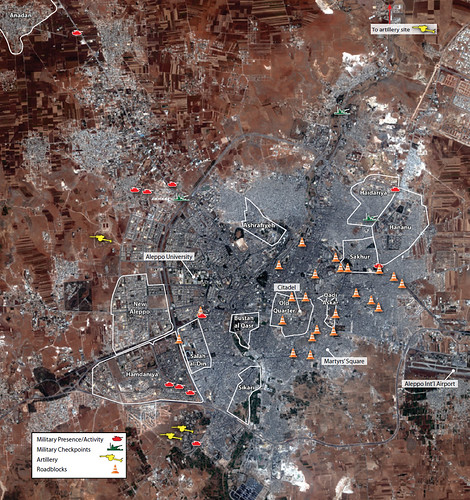 Military Activity in Aleppo, July 23 - August 1, 2012