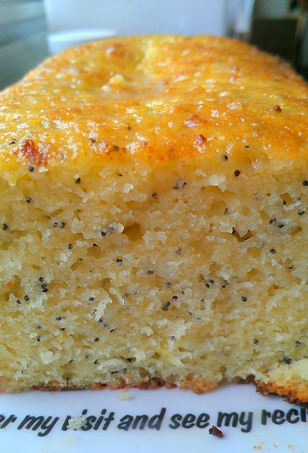 Lemon Poppyseed Olive Oil Cake with Almond Glaze