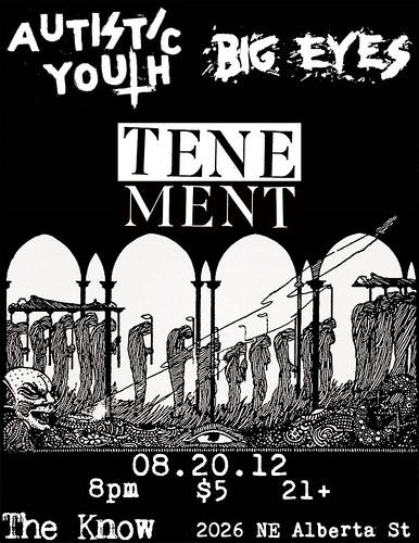 8/20/12 AutisticYouth/BigEyes/Tenement