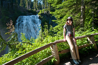 Kate at Narada Falls