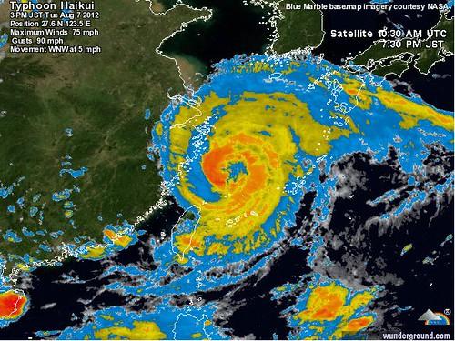 Typhoon Haikui is on its way to Shanghai